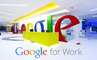 Working in Google office